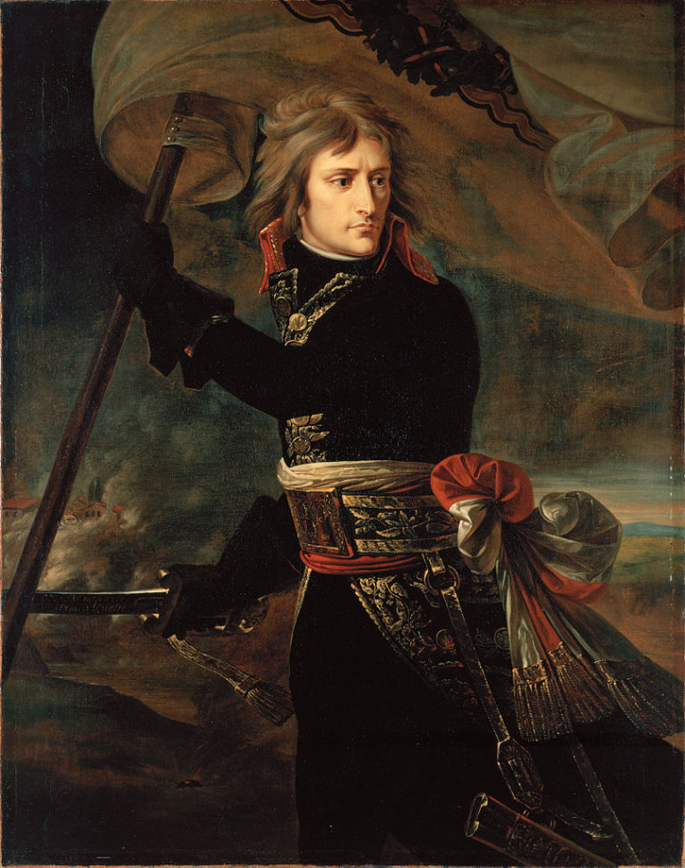 Наполеон Бонапарт на Аркольском мосту. 1796-97