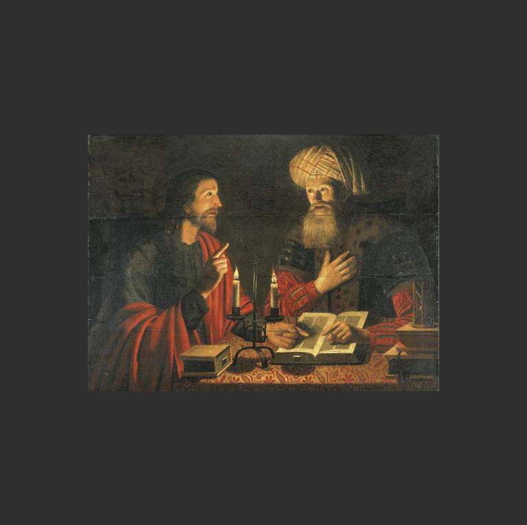Ночной разговор Христа с Никодимом. 1616-1645