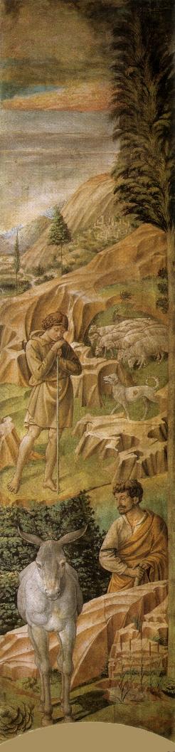 Пастухи на горах. Деталь фрески