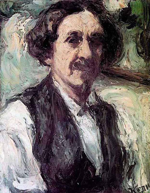 Пётр Иванович Келин (1874 — 1946). Автопортрет. 1908