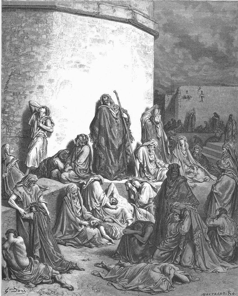 Плач о падении Иерусалима. Гравюра. 1866