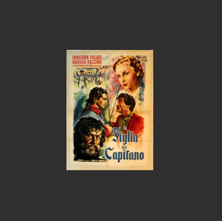 Плакат итальянского фильма 1947 г. La figlia del capitano