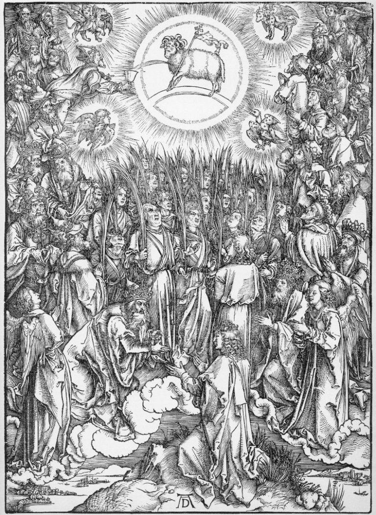 Поклонение Агнцу и песнопение избранных. 1496-1497