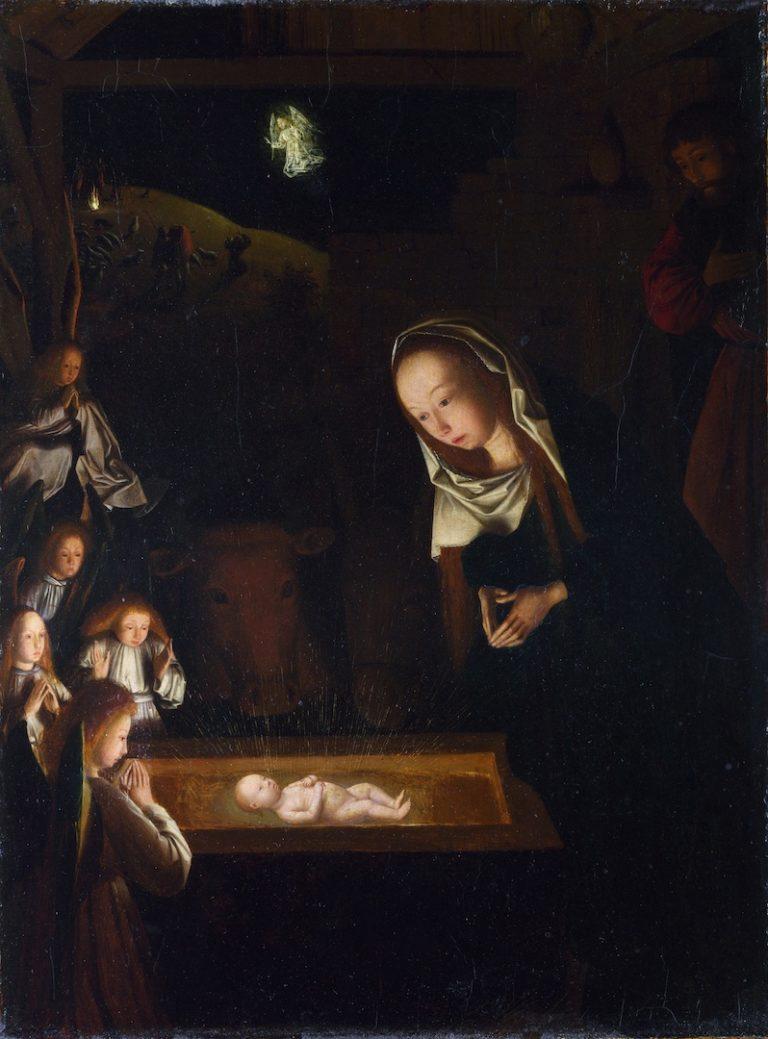 Поклонение Младенцу. Ок. 1490