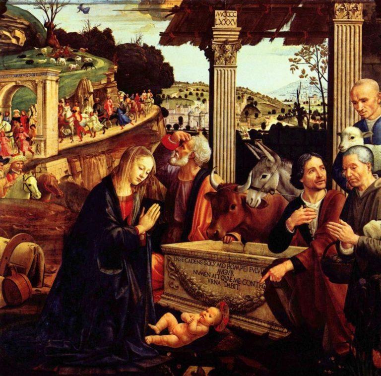Поклонение пастухов. 1485