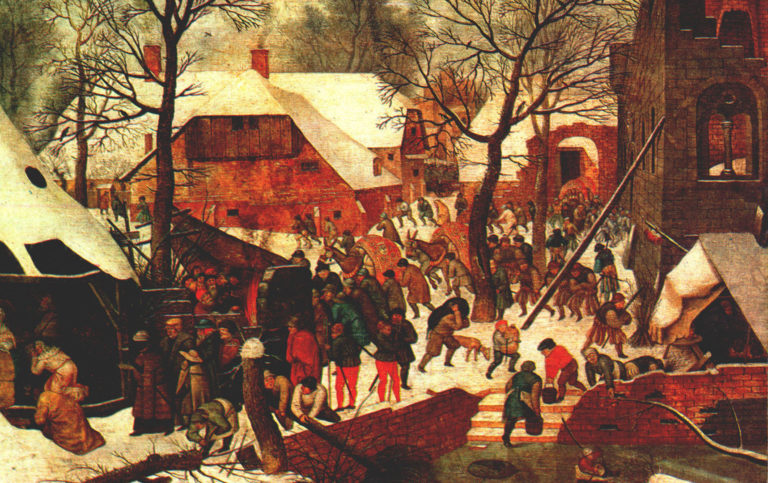 Поклонение волхвов в снегу. 1567