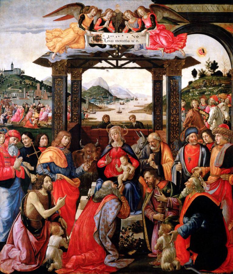 Поклонение волхвов. 1488