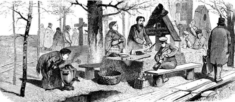 Поминки на Радоницу в XIX веке