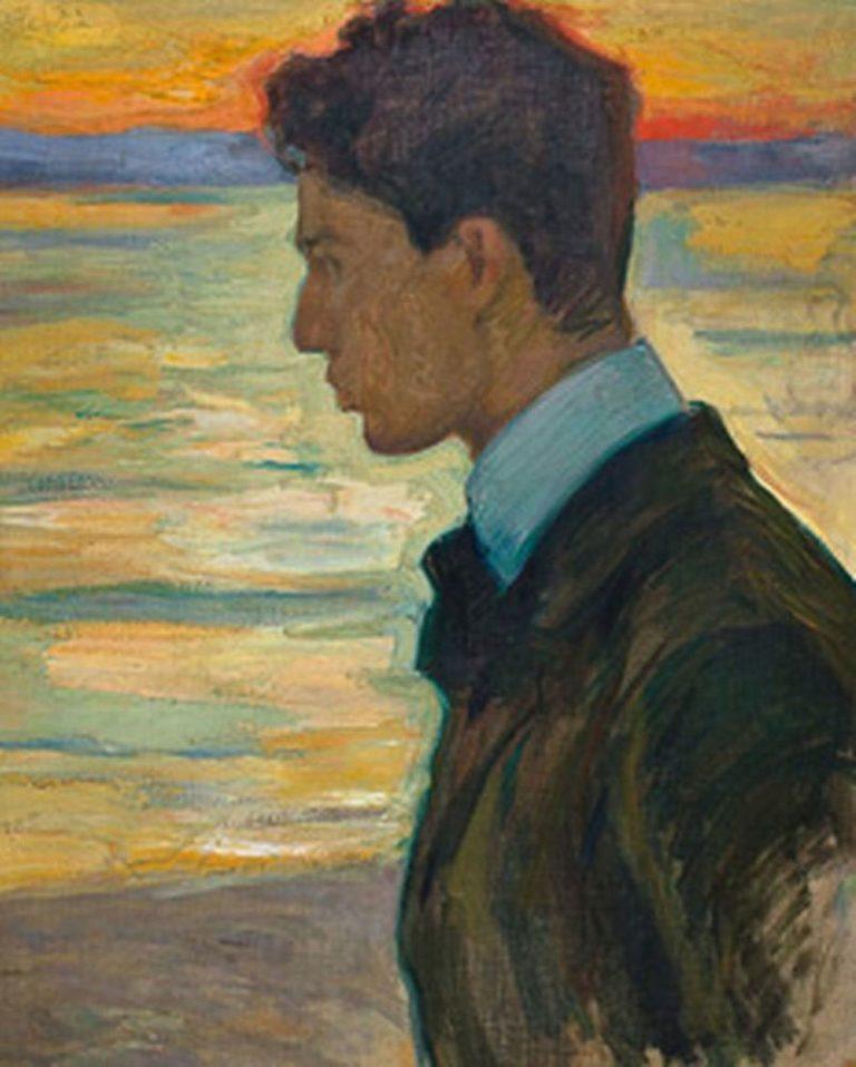 Портрет Бориса Пастернака на фоне Балтийского моря. 1910