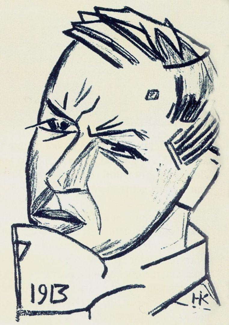Портрет Д.Д. Бурлюка. 1913