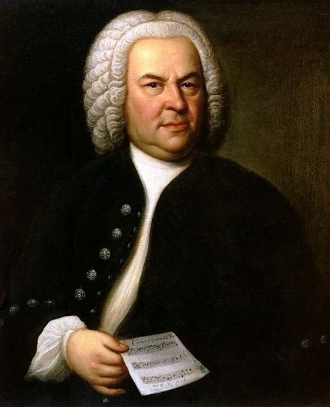 Портрет И.С. Баха с «Загадочным каноном» BWV 1076. 1746
