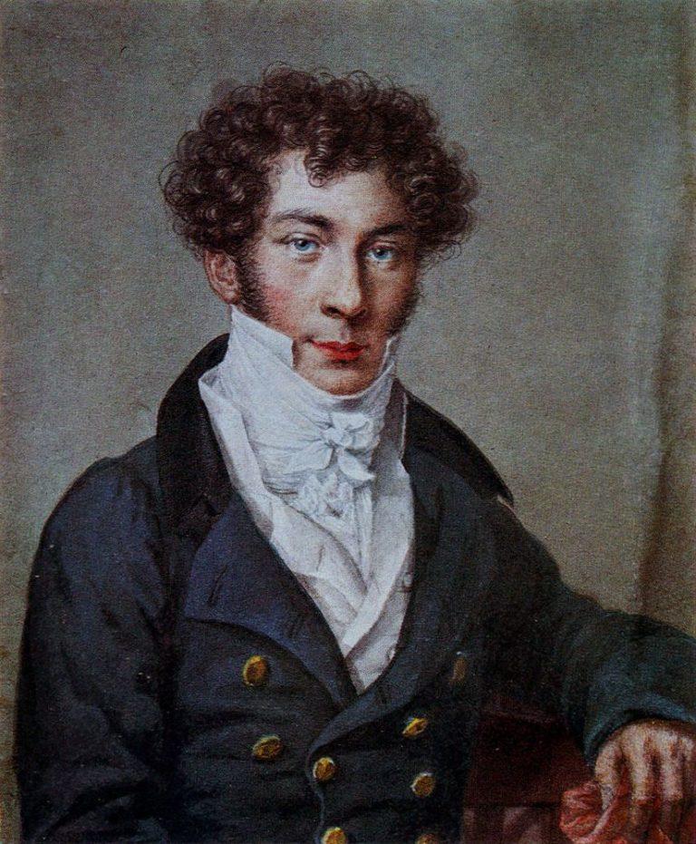 Портрет Константина Батюшкова (1787-1855). Акварель, 1815.