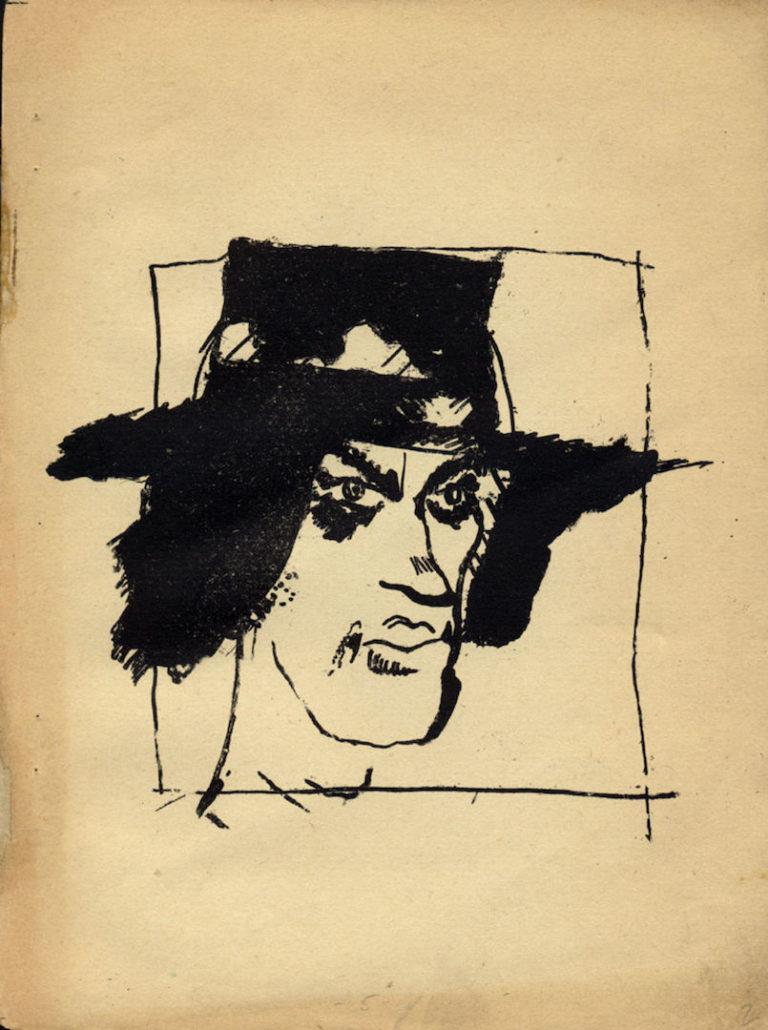 Портрет Маяковского. 1913