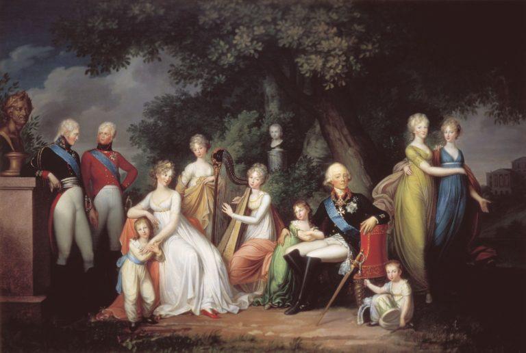 Портрет Павла I с семьёй. 1800