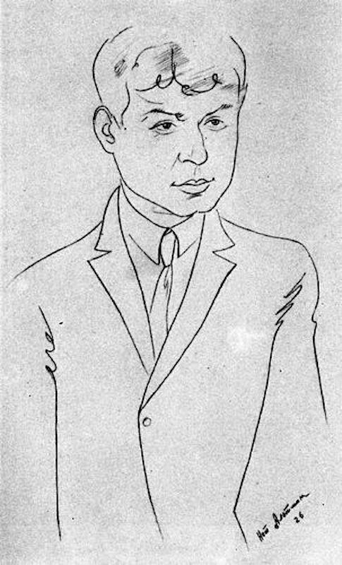 Портрет Сергея Есенина. 1926