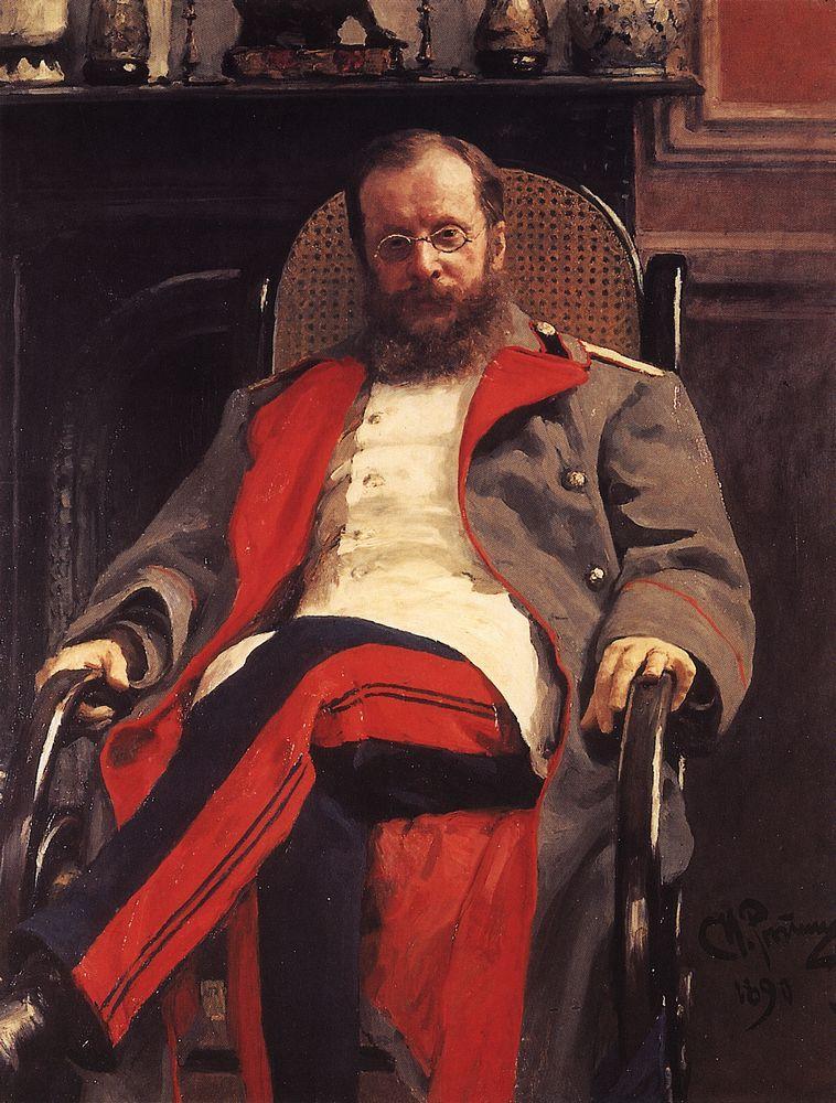 Портрет Цезаря Кюи. 1890