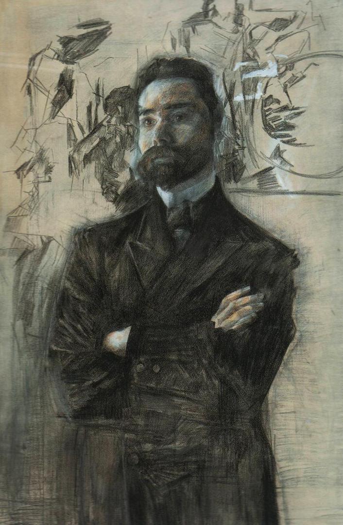 Портрет Валерия Яковлевича Брюсова (1873—1924). 1906