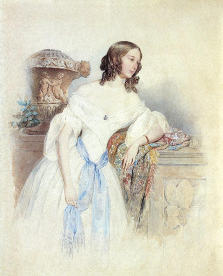 Портрет графини Е.П. Ростопчиной. 1842-1843