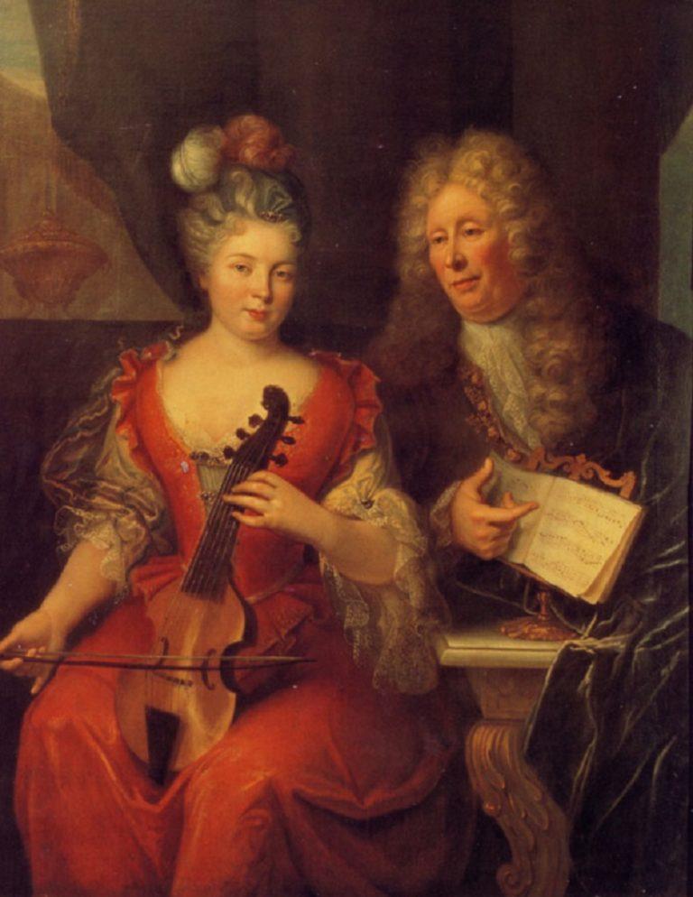 Портрет композитора Луи де Кэ д'Эрвелуа (франц. Louis de Caix d'Hervelois, 1670-1759)
