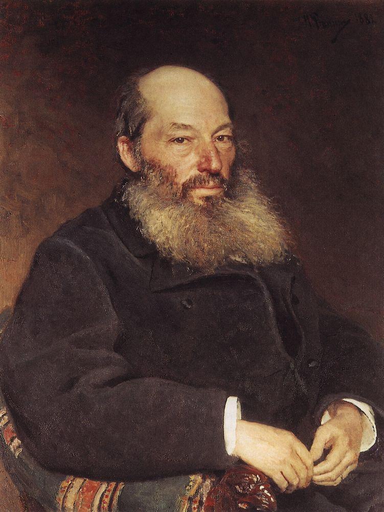 Портрет поэта Афанасия Афанасьевича Фета (1820—1892). 1882