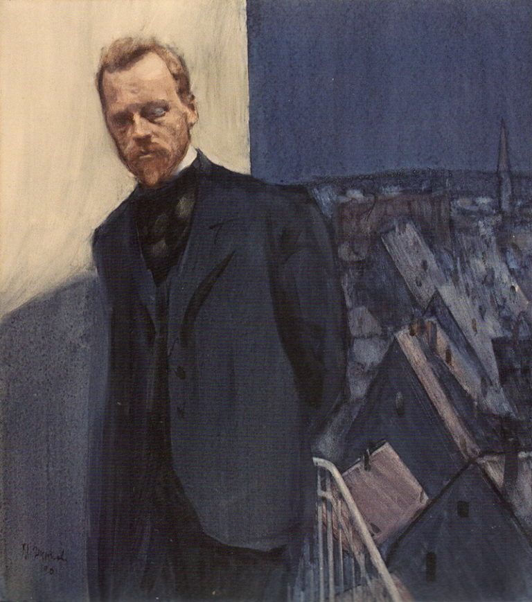 Портрет поэта Константина Дмитриевича Бальмонта (1867—1942). 1901