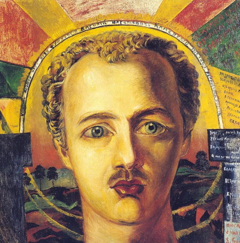Портрет поэта-футуриста В.А. Каменского. 1917