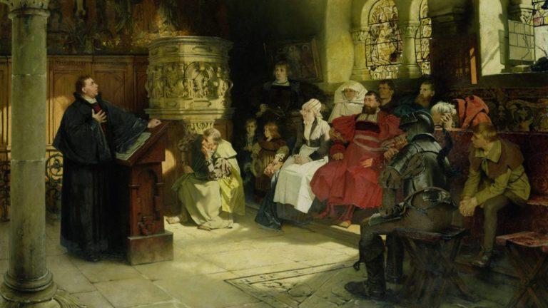 Проповедь Лютера в Вартбурге. 1882