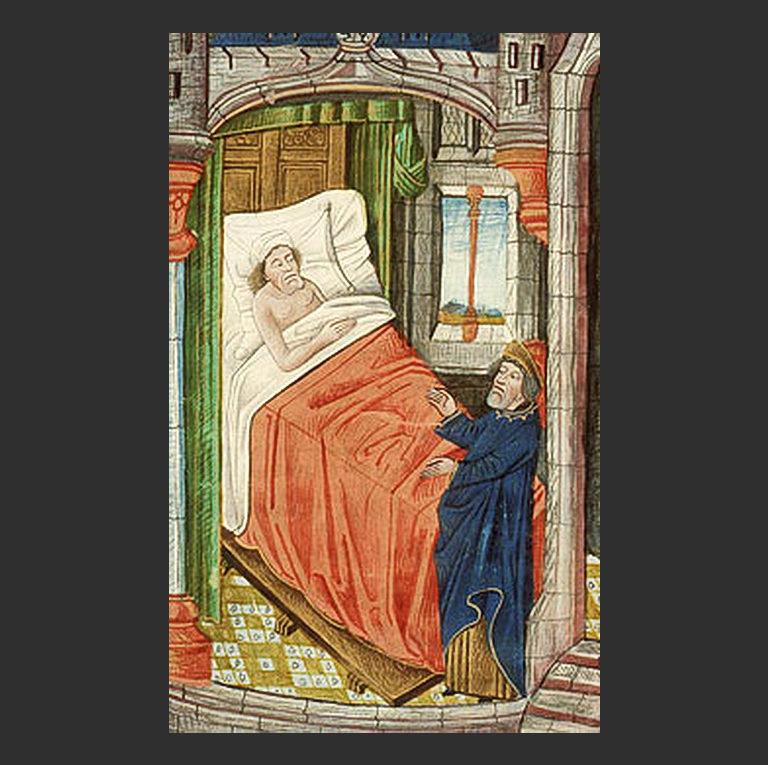 Пророк Исайя у постели больного царя Езекии (Ис 38)