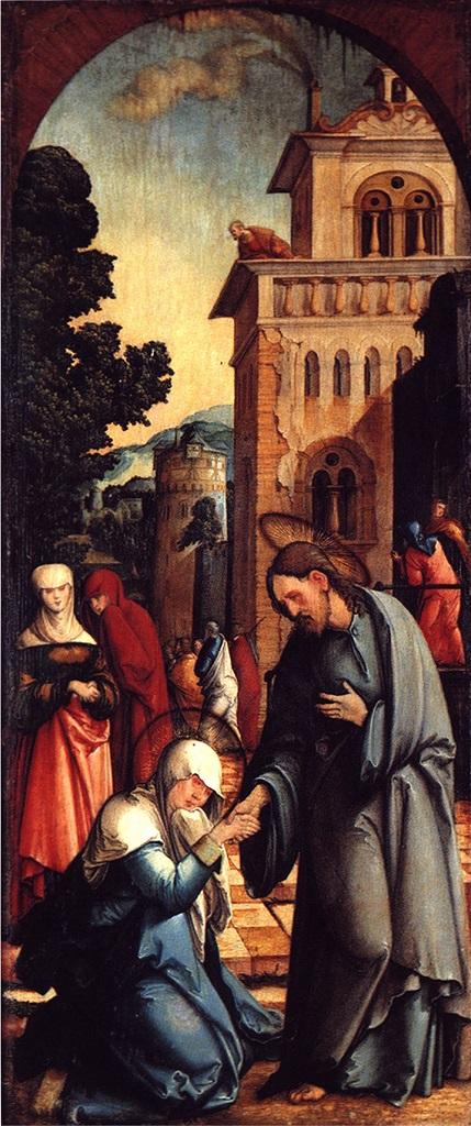 Прощание Христа с Матерью. Ок. 1536