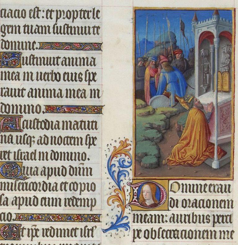 Псалом 143. Иллюстрация к «Великолепному часослову герцога Беррийского» (иллюстированная рукопись). 1410-1411