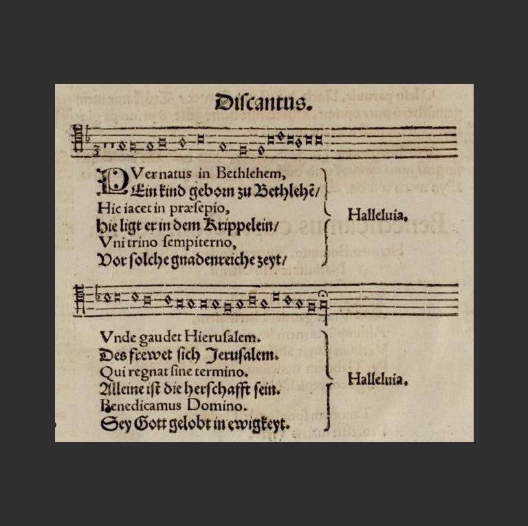Puer natus in Bethlehem. 1553