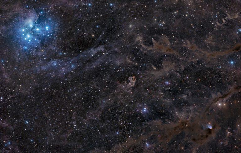 Рассеянное звёздное скопление Плеяды или Семь Сестёр