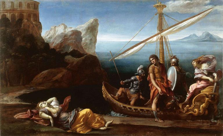 Ринальдо прощается с Армидой. 1614