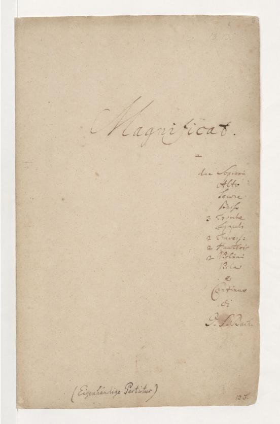 Рукопись И.С. Баха «Magnificat». BWV 243