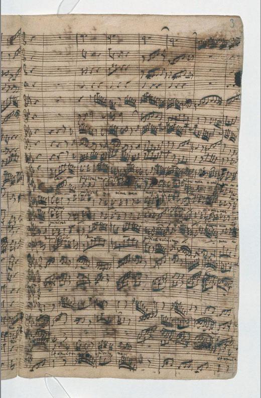 Рукопись И.С. Баха «Magnificat». BWV 243a