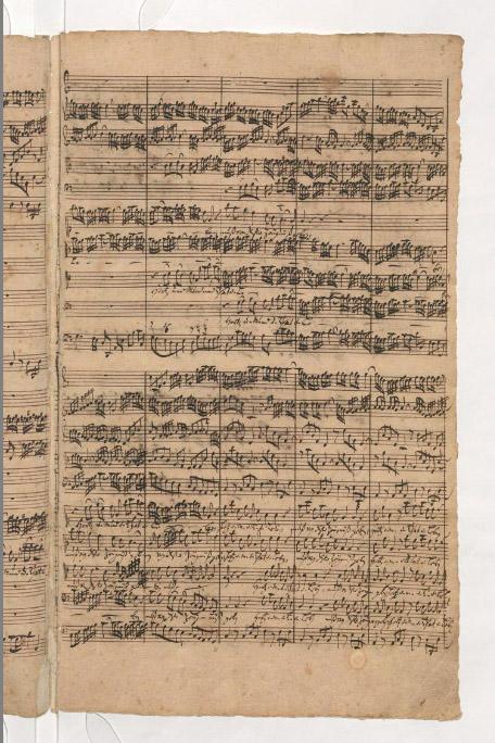 Рукопись И.С. Баха. BWV 147