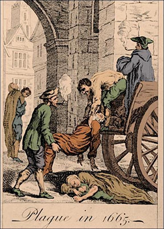 Сбор тел для захоронения во времена Великой эпидемии чумы