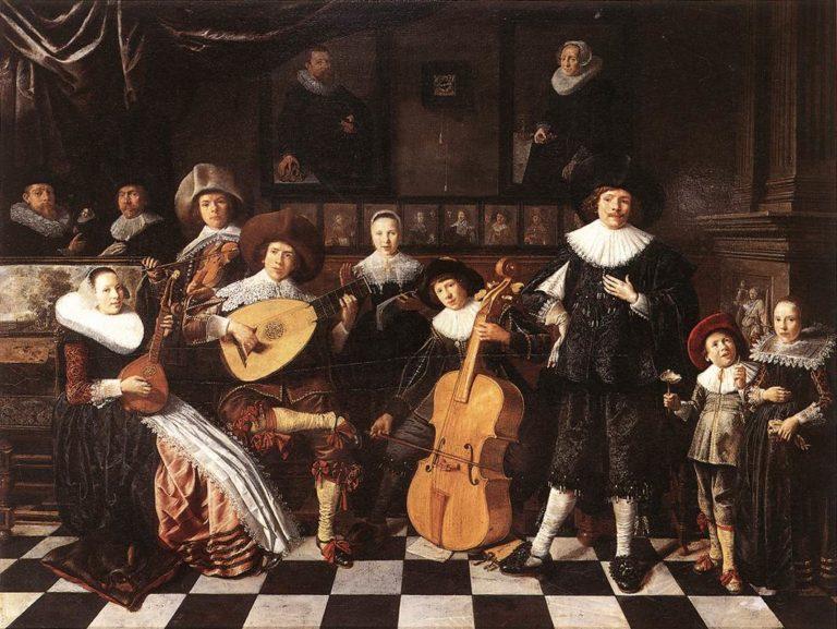 Семья музыкантов. 1635