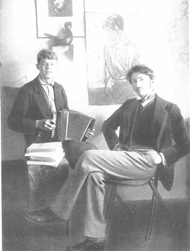 Сергей Есенин и Сергей Городецкий. 1915