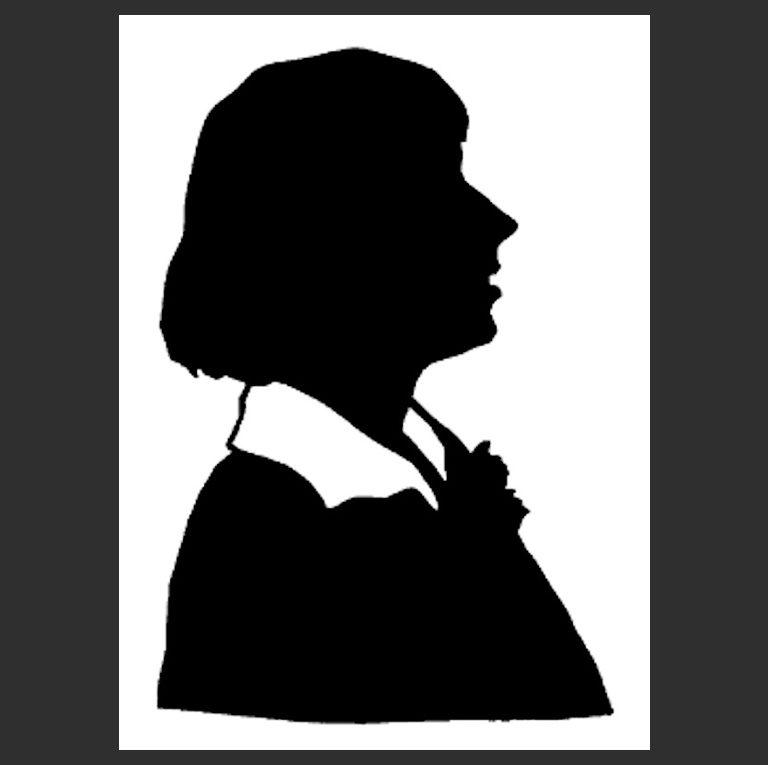 Силуэт Марины Цветаевой. 1920