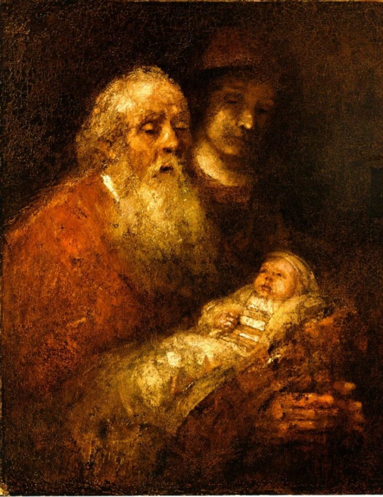 Симеон и пророчица Анна, или Принесение во храм. 1628
