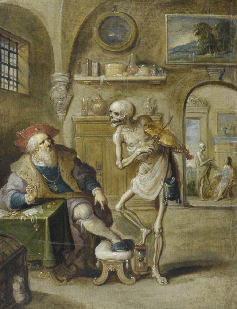 Смерть, играющая на скрипке. Ок. 1625
