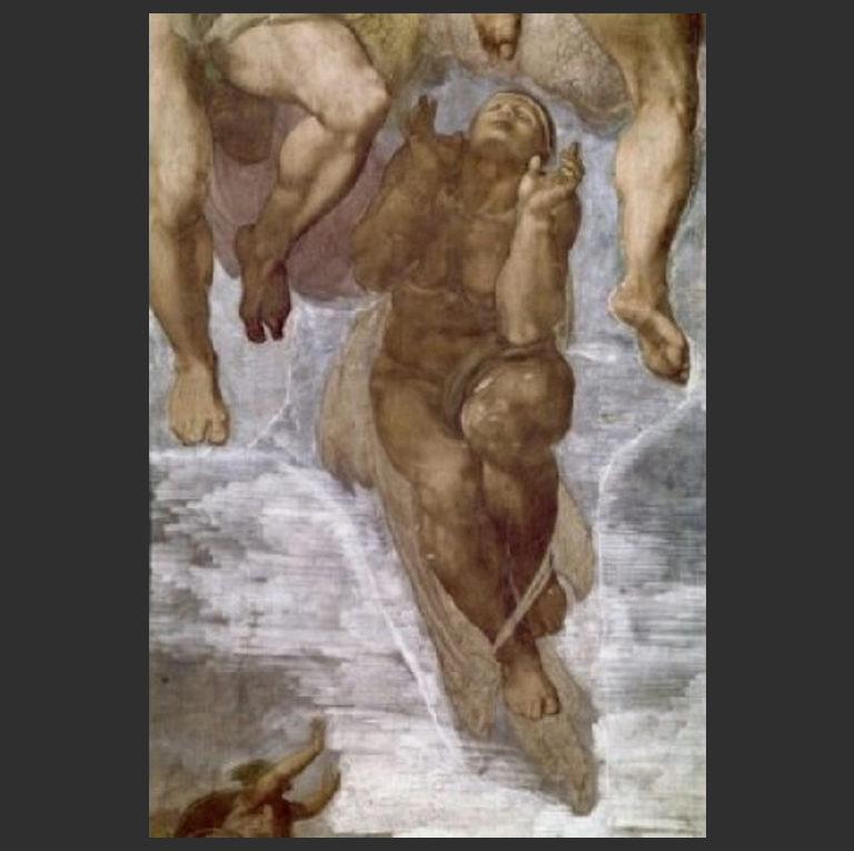 Страшный суд. Деталь росписи Сикстинской капеллы. 1508-1512