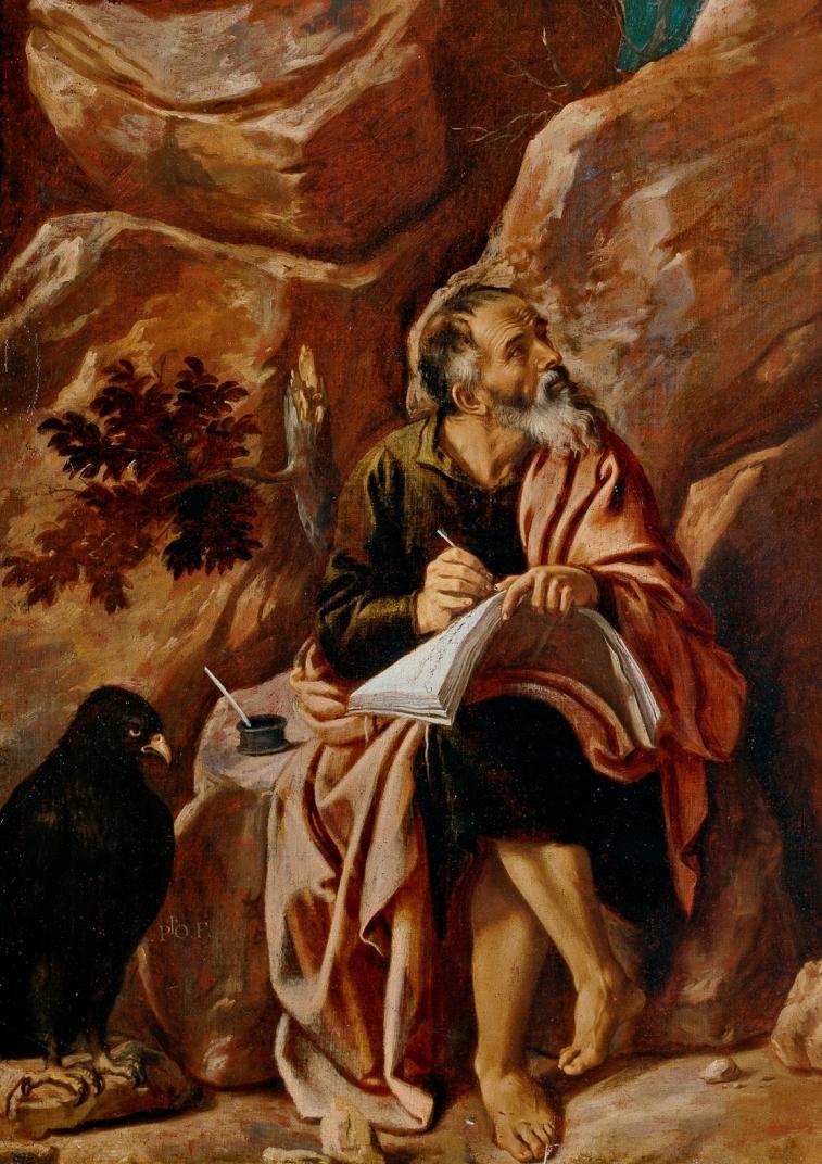 Св. евангелист Иоанн на острове Патмос. Ок. 1620