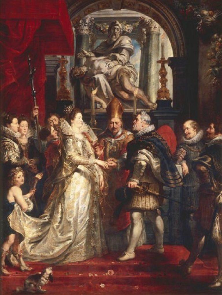 Свадьба по доверенности Марии Медичи и короля Генриха IV. 1622-1625