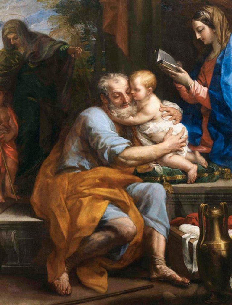 Святое семейство. Cв.Иосиф с младенцем Иисусом