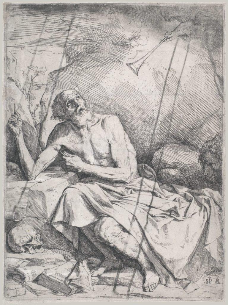 Святой Иероним слышит трубы Судного дня. 1621