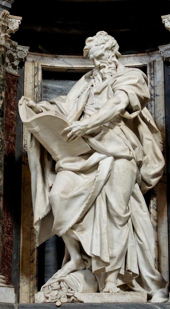 Статуя св. Матфея. 1713-1715