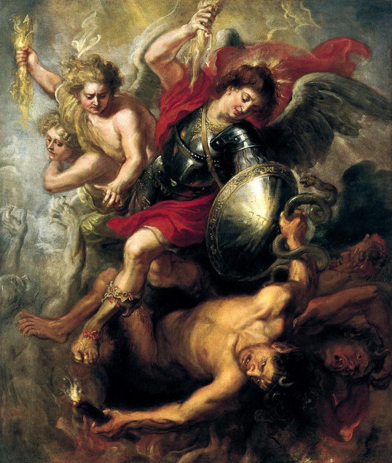 Святой Михаил, изгоняющий Люцифера и мятежных ангелов. 1622