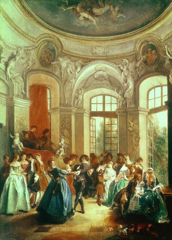 Танец в павильоне. 1730-1735